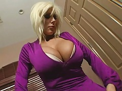 Nice big breasted milf gets a buyer for the house
