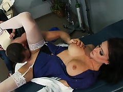 Doctor takes on patients cock while wife watches