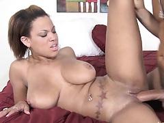 Latina Natasha fucked sideways by Voodoo