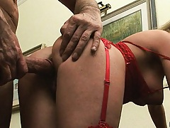 Nice angle from behind of husband fucking wife