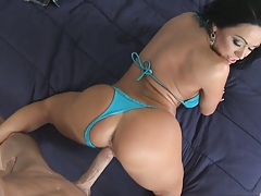 Cherokee does the splits while fucked from behind