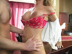 Phoenix Marie gets a deliver and seduces delivery boy