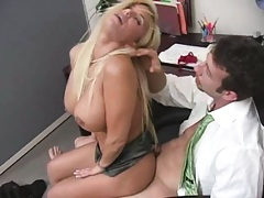 One second later and shyla is all over his office cock