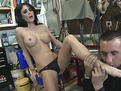 Busty mechanic Jessica and her boss