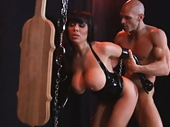 Sienna West gets doggy styled while chained up