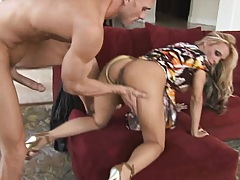 Busty Holly gets doggy rammed