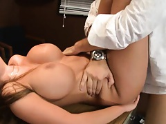 Nika is fucked and slidding cock betwen her big tits