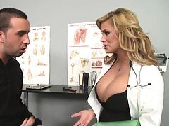 Dr Stylez is examining Keirans problem