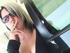 She flipped out my cock and started to suck in P lot