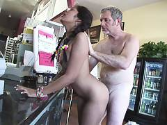 Ruby Reyes finds herself an old fart to sit on