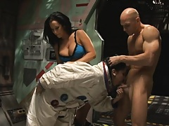 Horny pornstars fuck a big dick from out of space