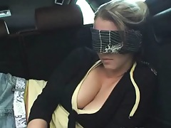 GF tied up in chains penis shuved into mouth