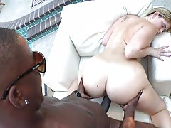 Briella pumped full of black dick outdoors