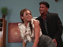 Office sex time with Mia Lelani getting dudes fingers up her skirt