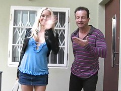 Big tits sexy Stacy Silver coming over to stay at apt