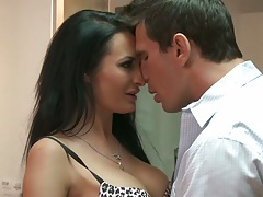 Milf Alektra Blue making out and blowjob