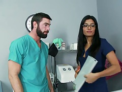 Hot doctor Shazie and a male nurse