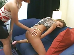 Fingering redhead and her friend girl Melissa and Beatrice