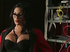 Emily B a big tits milf in the office