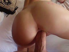 Teen big dick doggy style penetration with Alexia Sky