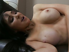 Sideways penetration with doggy for big tits milf