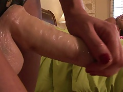 Strap on lesbian sex with Taisa Banx and Audrey Hollander