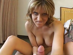 Handjob and anal close up with pov fuck from Tyla Wynn