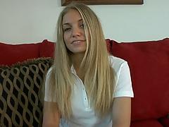 Allie Perdue blonde masturbation solo and stripping