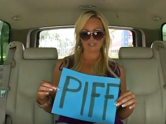 Blonde babe Abbey Brooks in back seat