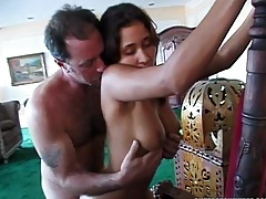 Rear entry entering Vanda Vitus pussy and touching her nice tits with anal