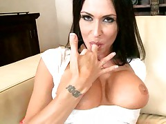Blowjob close up and a smiles from Jessica Jaymes