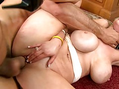 Shutting up Katie while force fucking her pussy