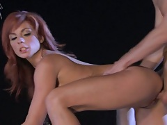 Doggy style with redhead experienced milf Kirsten Price and cmshto on tits