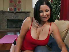 Big tits milf Sophia and her sons best friend