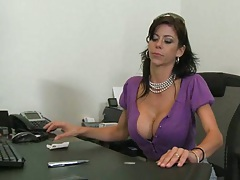 Big tits boss Alexys hired a new salesman