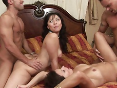 Wife swap from Bailey Brooks and Leilani Lee horny natural tits milfs