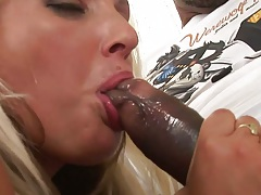 Interracial wet blowjob and rear entry with Nataly Gold