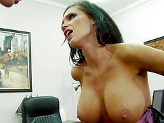 Big tits Jenna fucked on the table hardcore