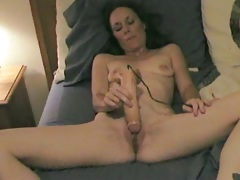 Dildo shaved pussy Monica gets filmed by Jason on home video