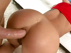 Doggy style anal for a petite ass milf Inari Vachs on the floor