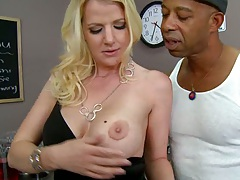 Anita a blonde milf looking for giant black meat