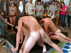 Group sex with Jennifer Dark and Diamond Kitty visiting a local college boring dorm