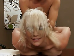 Doggy style hardcore slamming Lexi Swallow on office table