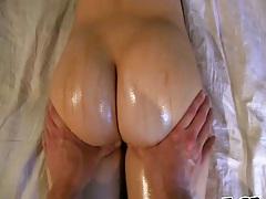 Nice oil massage with gf Aubreyexgf home video