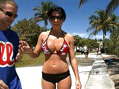 Great tanned ass with Rebeca Linares