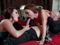 Blowjob and fucking wife stories milfs Diamond Foxxx and Mackenzee Pierce