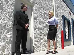 Big tits boss with Krissy going to a sex club