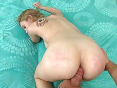 Teen doggy style fucking and spreading it