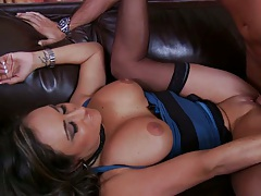 Big tits milf spreads her legs and gets licked