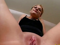 Close up home video shaved pussy amateur Kate and pov blowjob